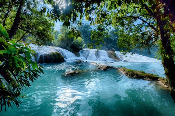 Chiapas-Mexico-Agua-Azul-waterfall-blue-green