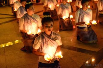 Candle bearers, Loy Krathong 2014 Chiang Mai, Thailand