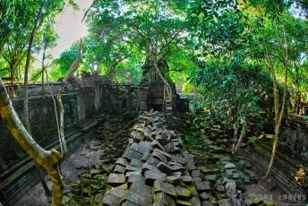 Piles of stones, ruins, Angkor Wat, Cambodia