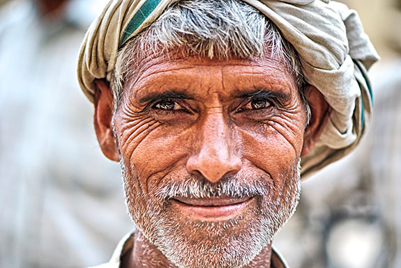 Smiling man, Delhi India, Chandni Chowk market