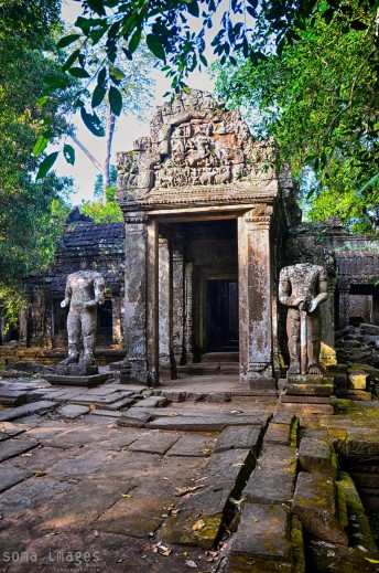 Entrance to a temple, Angkor Wat, Cambodia