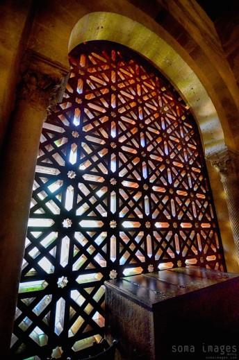 Mosaic windows, Mezquita de Córdoba, Cordoba, Spain